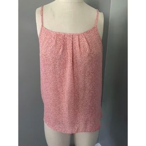LOFT Coral Spotted Sleeveless Top XS